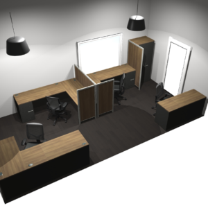 Project #4 - L-Shaped Desks with Privacy Panels