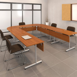 Modular Training Tables with Modesties