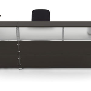 Artopex Reception with Laminate and Frosted Acrylic Fronts