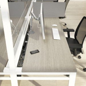Monitor Arms and Accessible Electrical